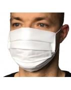 Dwuwarstwowa maseczka maska na twarz bawełniana wielokrotnego użytku biała